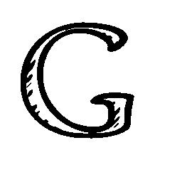 Google G sketched social letter outline symbol