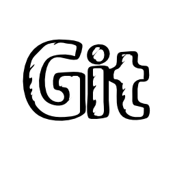 Git sketched social logo outline
