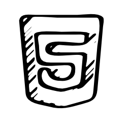 HTML 5 sketched logo outline
