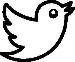 Twitter bird logo outline