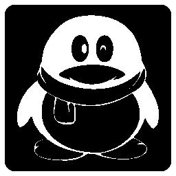 Qq social logo of a penguin