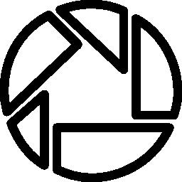 Picassa social outlined logo