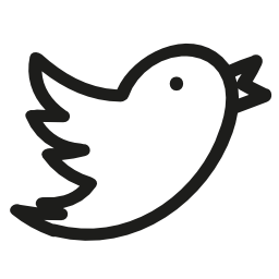 Twitter hand drawn logo
