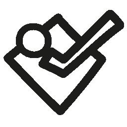 Foursquare hand drawn logo outline