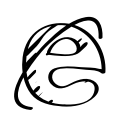 Explorer sketched logo outline