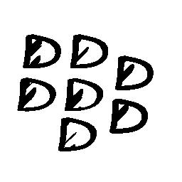 Blackberry sketched social logo outline