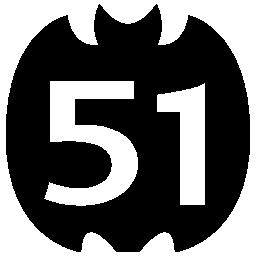 51 on social logo