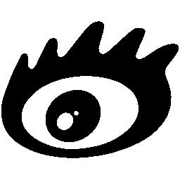 Sina social logo of an eye