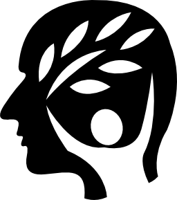 man head with nature element