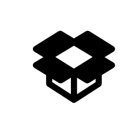 Dropbox outline logo