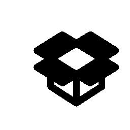 Dropbox outline logo