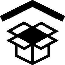 Dropbox symbol with arrowhead up