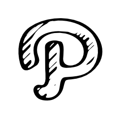 Path Network logo sketch outline
