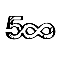 500 sketched social logo with infinite symbol