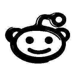 Reddit mascot logo sketch variant
