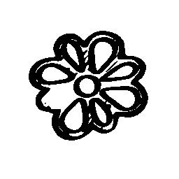 ICQ sketched social logo