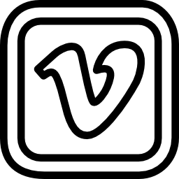 Vimeo letter logo in a rounded square