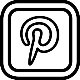 Pinterest letter logo outline in a rounded square