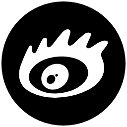 Sina social logo of an eye