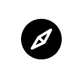 Safari compass logo, IOS 7 interface symbol
