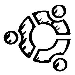 Ubuntu sketched logo