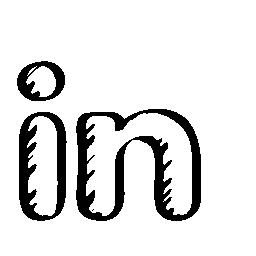 Linkedin sketched social logo