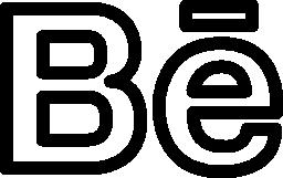 Behance social outlined logo