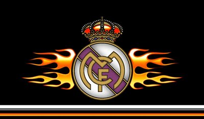 real madrid logo black background