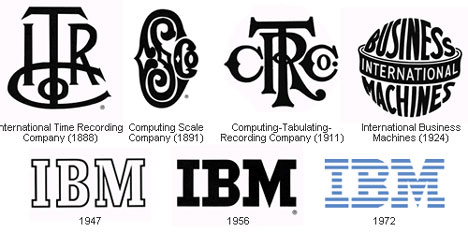 At present, the logo of IBM (International Business Machines Corporation) is simplified recognized and replicated all over the world